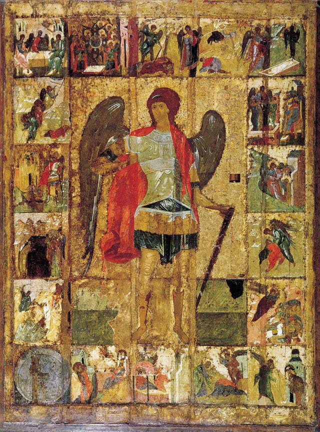モスクワの聖天使首大聖堂にあるミカエルのイコン