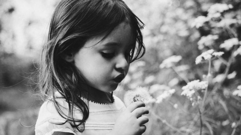 女の子 子供 自然 たんぽぽ