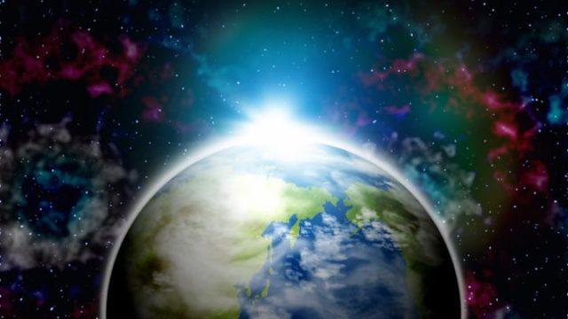 宇宙 地球 光 神秘