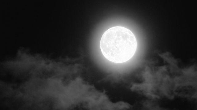 満月 夜 神秘