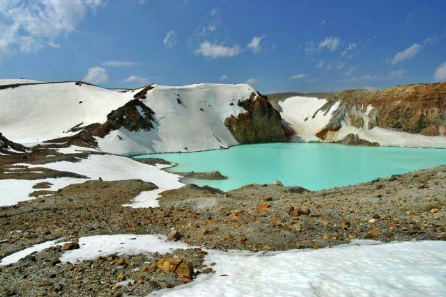 白根山火口 カルデラ湖