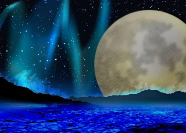 満月 月夜 神秘 満潮 干潮