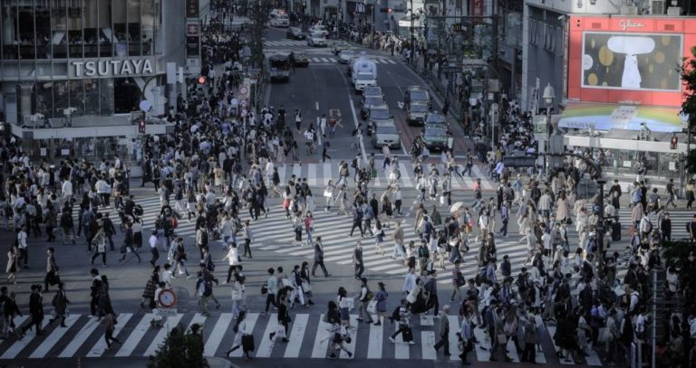 交差点 人混み 人間社会