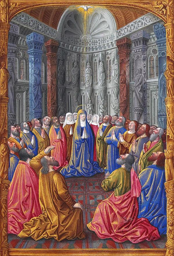 聖霊降臨を描いた15世紀の写本