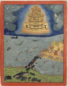 空を飛ぶプシュパカ・ヴィマナ