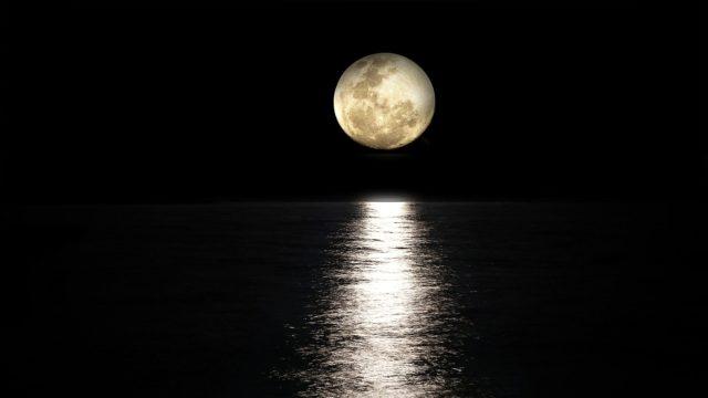 満月 夜の海 ムーンパワー